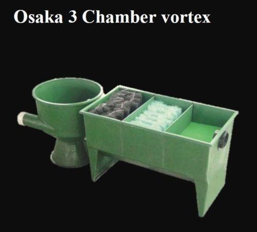 3 Kammern Filter mit Vortex aus GFK incl. Filtermedien