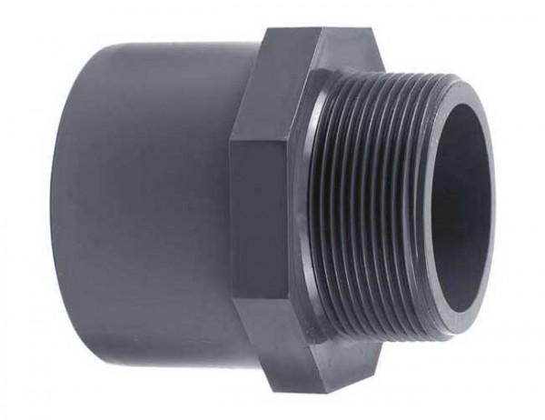 PVC Übergangsnippel, PVC Übergangsmuffe Außengewinde