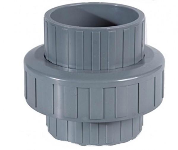 PVC-U Schraubverbindung 2 x Klebe 50 mm